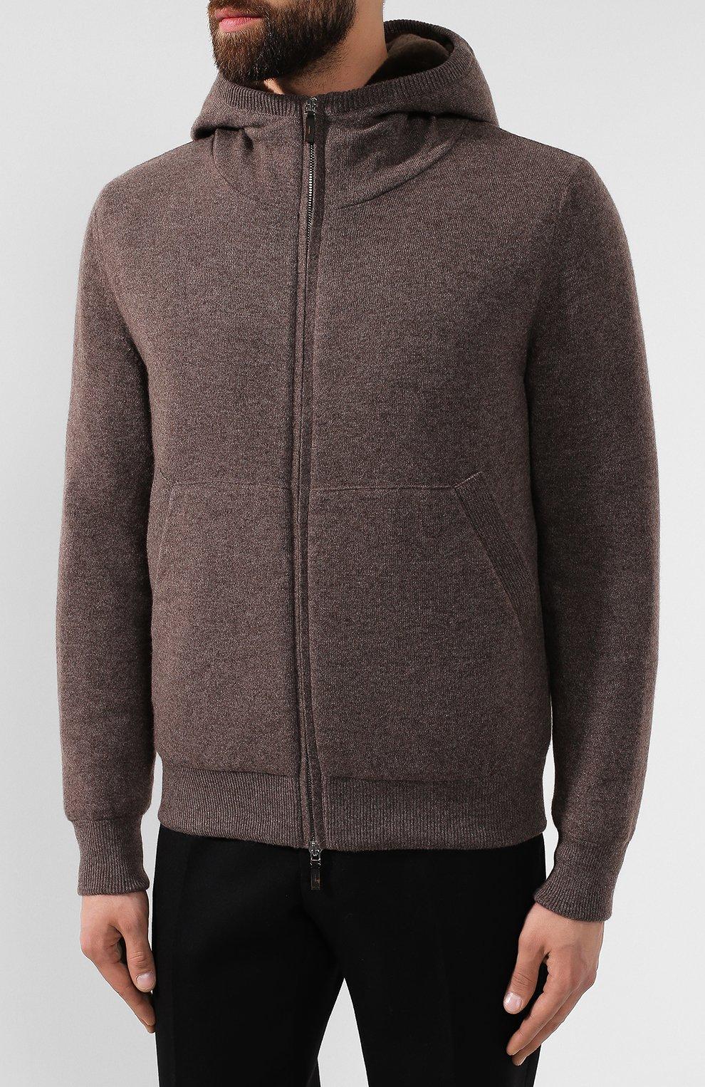 Кашемировая куртка с меховой подкладкой | Фото №3
