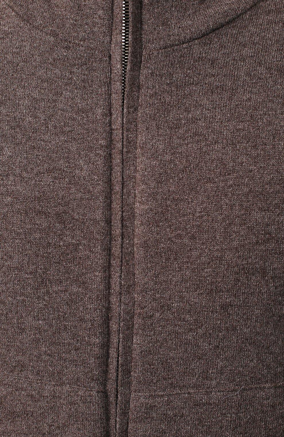Кашемировая куртка с меховой подкладкой | Фото №5