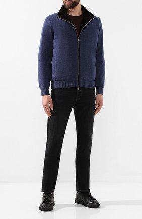 Мужская кашемировая куртка с меховой подкладкой FIORONI синего цвета, арт. M19TP4E1 | Фото 2