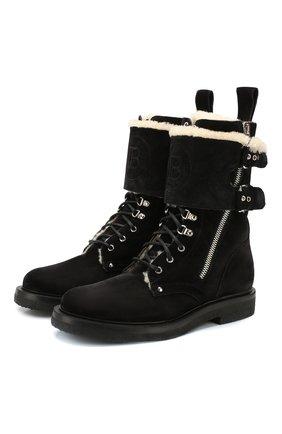 Мужские замшевые ботинки nick BALMAIN черного цвета, арт. SM0C158/LCNM | Фото 1