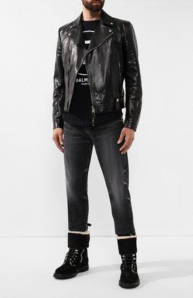 Мужские замшевые ботинки nick BALMAIN черного цвета, арт. SM0C158/LCNM | Фото 2