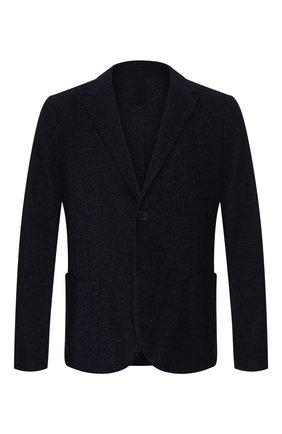 Мужской пиджак из смеси шерсти и хлопка HARRIS WHARF LONDON темно-синего цвета, арт. C8P22MYN | Фото 1