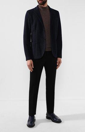 Мужской пиджак из смеси шерсти и хлопка HARRIS WHARF LONDON темно-синего цвета, арт. C8P22MYN | Фото 2
