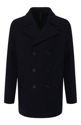 Мужской шерстяное пальто HARRIS WHARF LONDON темно-синего цвета, арт. C9314MLC | Фото 1