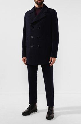 Мужской шерстяное пальто HARRIS WHARF LONDON темно-синего цвета, арт. C9314MLC | Фото 2
