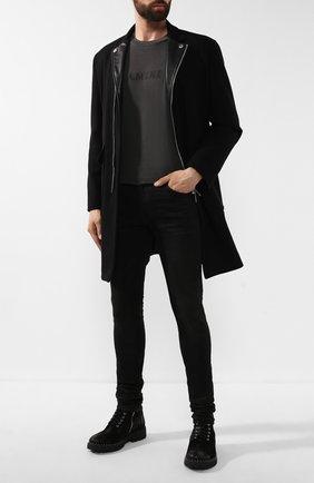 Мужские джинсы AMIRI черного цвета, арт. W9M01101SD | Фото 2