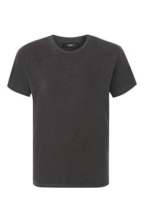 Мужская хлопковая футболка AMIRI черного цвета, арт. W9M03350CJ | Фото 1