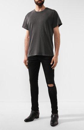 Мужская хлопковая футболка AMIRI черного цвета, арт. W9M03350CJ | Фото 2