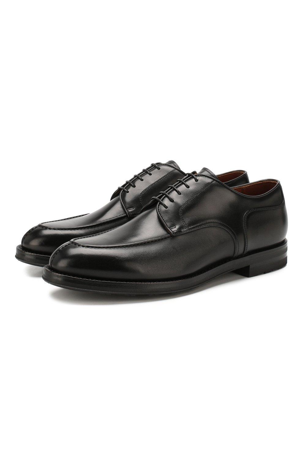 Мужские кожаные дерби W.GIBBS черного цвета, арт. 0639010/0149 | Фото 1