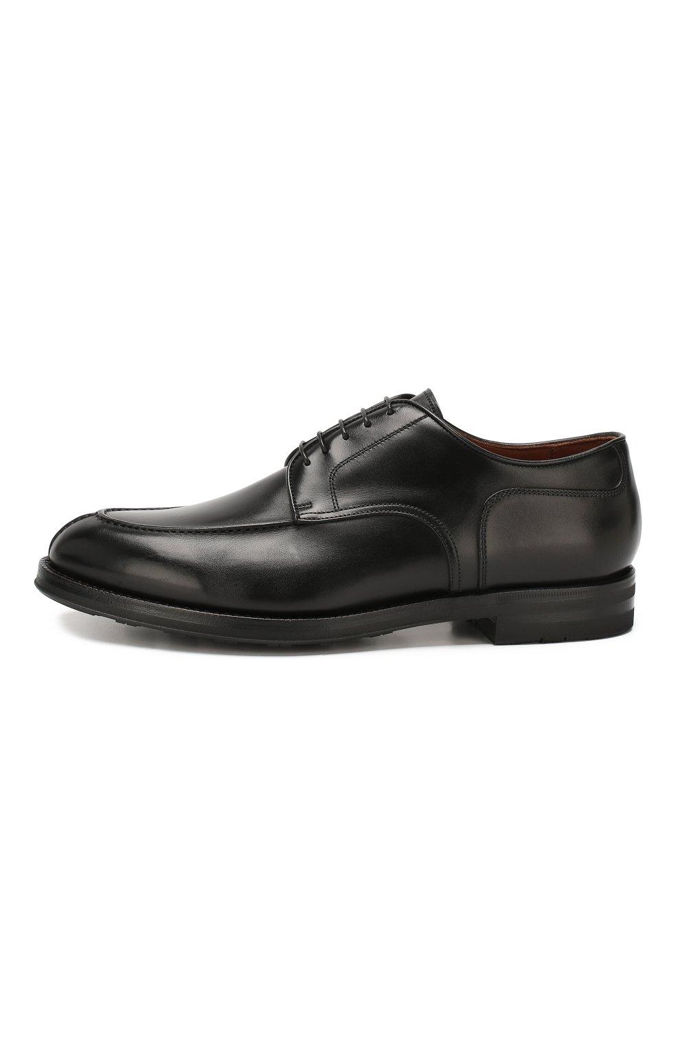 Мужские кожаные дерби W.GIBBS черного цвета, арт. 0639010/0149 | Фото 3