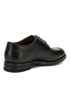 Мужские кожаные дерби W.GIBBS черного цвета, арт. 0639010/0149 | Фото 4