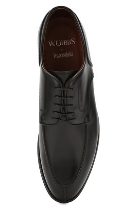 Мужские кожаные дерби W.GIBBS черного цвета, арт. 0639010/0149 | Фото 5
