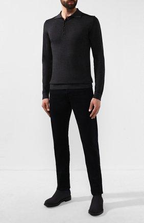 Мужское шерстяное поло DANIELE FIESOLI темно-серого цвета, арт. DF 0009 | Фото 2