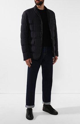 Мужские кожаные кеды MORESCHI черного цвета, арт. 43181/CQ | Фото 2