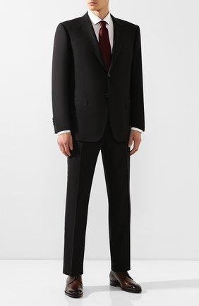 Мужской шерстяной костюм CORNELIANI черного цвета, арт. 847315C9818414/92 | Фото 1