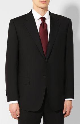 Мужской шерстяной костюм CORNELIANI черного цвета, арт. 847315C9818414/92 | Фото 2