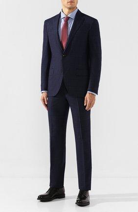 Мужская хлопковая сорочка CORNELIANI голубого цвета, арт. 84P002-9811436/00 | Фото 2