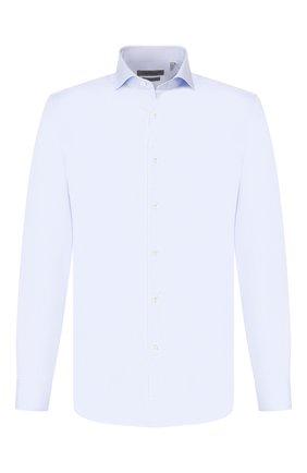 Мужская хлопковая сорочка CORNELIANI голубого цвета, арт. 84P002-9811624/00 | Фото 1