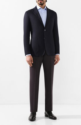 Мужская хлопковая сорочка CORNELIANI голубого цвета, арт. 84P002-9811624/00 | Фото 2