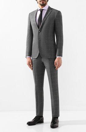 Мужская хлопковая сорочка CORNELIANI сиреневого цвета, арт. 84P002-9811624/00 | Фото 2