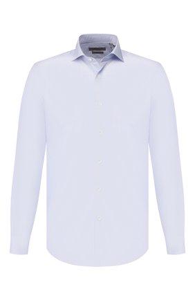 Мужская хлопковая сорочка CORNELIANI голубого цвета, арт. 84P002-9811905/00 | Фото 1