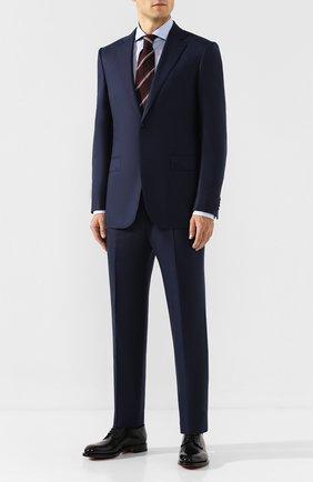 Мужская хлопковая сорочка CORNELIANI голубого цвета, арт. 84P002-9811905/00 | Фото 2