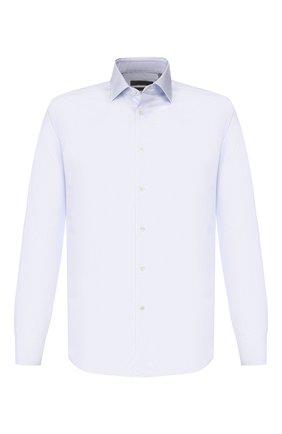 Мужская хлопковая сорочка CORNELIANI голубого цвета, арт. 84P010-9811275/00 | Фото 1