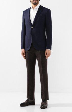 Мужской шерстяные брюки ANDREA CAMPAGNA коричневого цвета, арт. SC/1/AN1003 | Фото 2