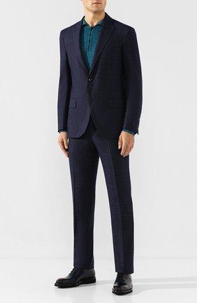Мужские кожаные оксфорды BARRETT темно-синего цвета, арт. 192U030.12/BETIS CREAM | Фото 2