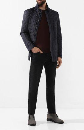 Мужские кожаные ботинки ZILLI серого цвета, арт. ZA B22/018 | Фото 2