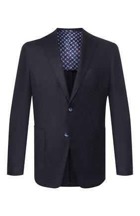 Мужской кашемировый пиджак ZILLI темно-синего цвета, арт. MNS-ECK1-2-B6647/M600 | Фото 1