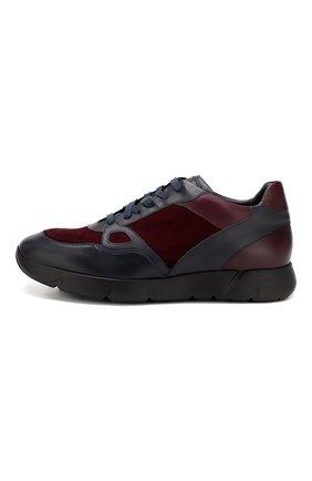Мужские кожаные кроссовки ANDREA CAMPAGNA синего цвета, арт. 302010.94.94 | Фото 3 (Стили: Классический; Статус проверки: Проверено, Проверена категория; Подошва: Массивная)