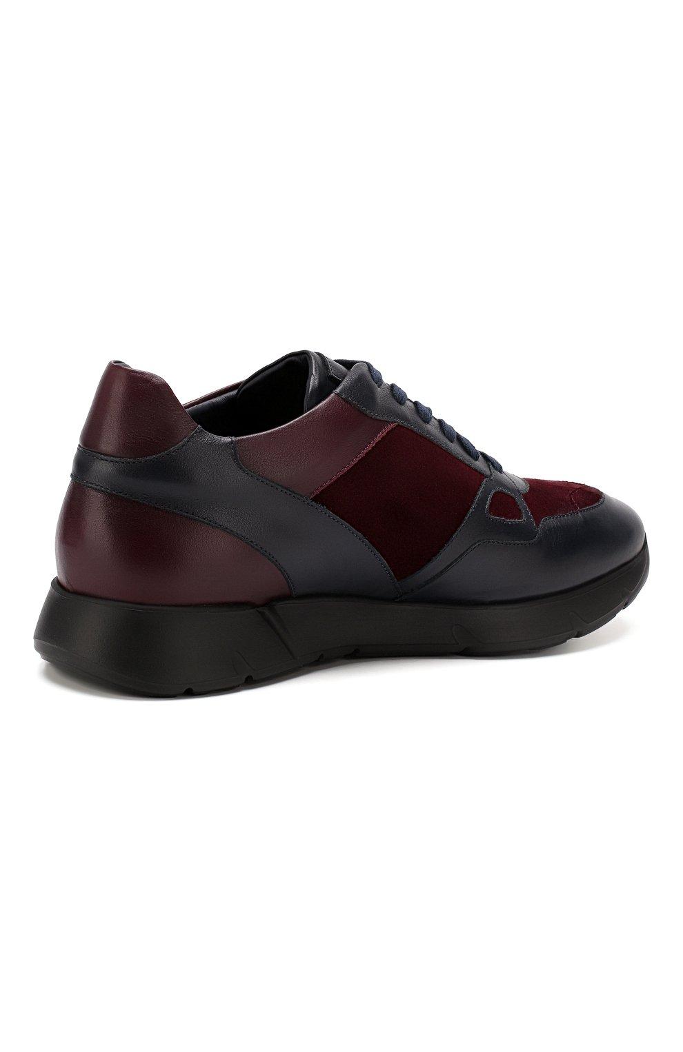 Мужские кожаные кроссовки ANDREA CAMPAGNA синего цвета, арт. 302010.94.94 | Фото 4 (Стили: Классический; Статус проверки: Проверено, Проверена категория; Подошва: Массивная)