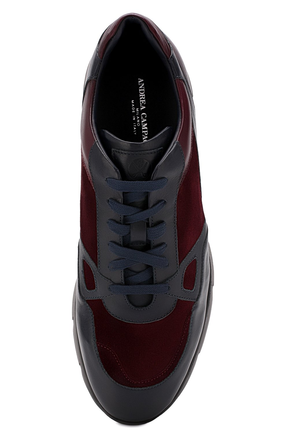 Мужские кожаные кроссовки ANDREA CAMPAGNA синего цвета, арт. 302010.94.94 | Фото 5 (Стили: Классический; Статус проверки: Проверено, Проверена категория; Подошва: Массивная)