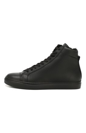 Мужские кожаные кеды ANDREA CAMPAGNA черного цвета, арт. 315023.223.138 | Фото 3
