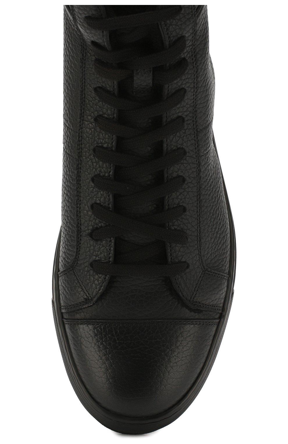 Мужские кожаные кеды ANDREA CAMPAGNA черного цвета, арт. 315023.223.138 | Фото 5