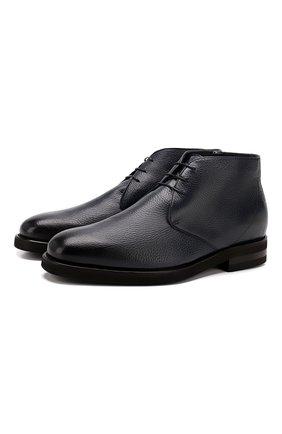 Мужские кожаные ботинки ANDREA CAMPAGNA темно-синего цвета, арт. 373019.91.151 | Фото 1