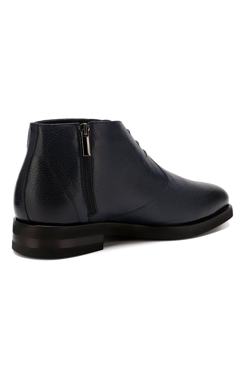 Мужские кожаные ботинки ANDREA CAMPAGNA темно-синего цвета, арт. 373019.91.151 | Фото 4