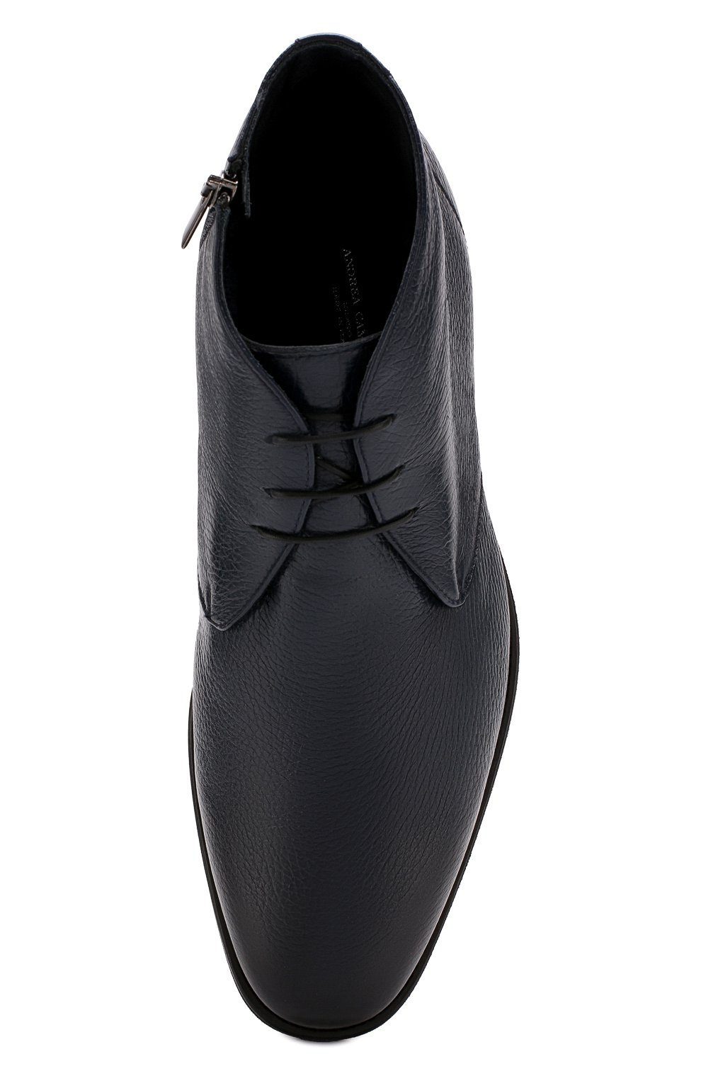 Мужские кожаные ботинки ANDREA CAMPAGNA темно-синего цвета, арт. 373019.91.151 | Фото 5