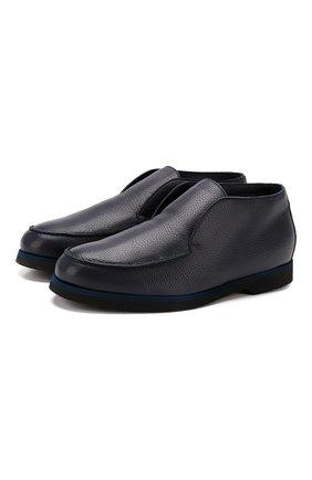 Мужские кожаные ботинки ANDREA CAMPAGNA синего цвета, арт. 390001.91.140 | Фото 1