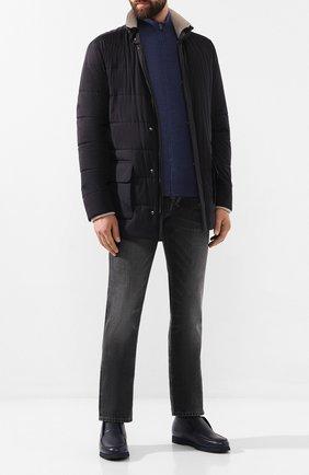 Мужские кожаные ботинки ANDREA CAMPAGNA синего цвета, арт. 390001.91.140 | Фото 2
