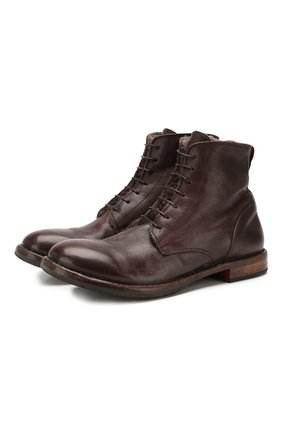Мужские кожаные ботинки MOMA темно-коричневого цвета, арт. 2CW022-CUM | Фото 1