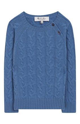 Детский кашемировый пуловер LORO PIANA голубого цвета, арт. FAI7952 | Фото 1