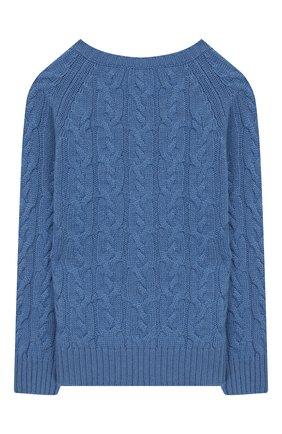 Детский кашемировый пуловер LORO PIANA голубого цвета, арт. FAI7952 | Фото 2