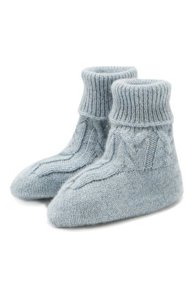 Детские кашемировые носки LORO PIANA голубого цвета, арт. FAI7188 | Фото 1