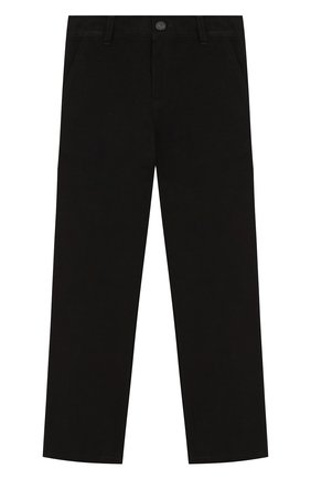 Детские хлопковые брюки DAL LAGO черного цвета, арт. N107/7930/4-6   Фото 1