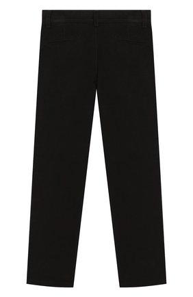 Детские хлопковые брюки DAL LAGO черного цвета, арт. N107/7930/4-6   Фото 2