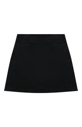 Детская хлопковая юбка DAL LAGO темно-синего цвета, арт. R301/8740/7-12 | Фото 2