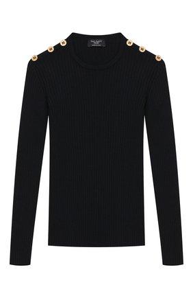 Детский шерстяной пуловер DAL LAGO темно-синего цвета, арт. R567/8325/7-12 | Фото 1