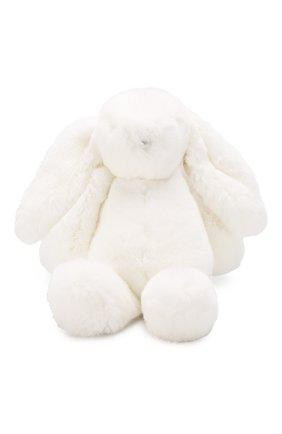 Детского меховая игрушка кролик  YVES SALOMON ENFANT белого цвета, арт. 20WEA316XXREXX | Фото 1